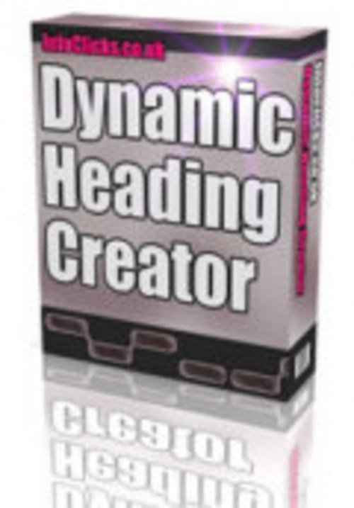 Product picture Dynamic Heading Creator Script-Website Promotion Tools MRR