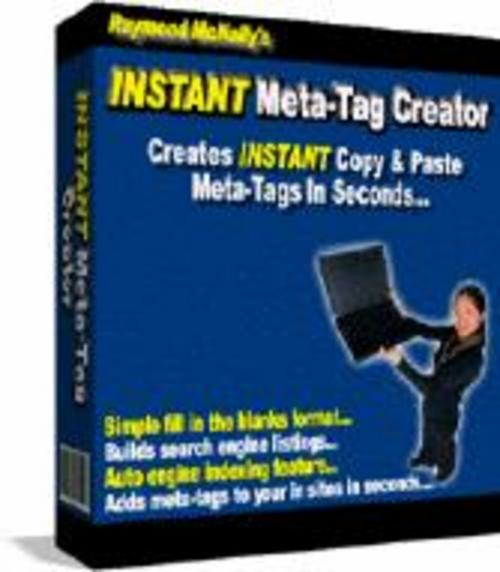 Product picture Meta Tag Creator MRR/keywords meta tag/create meta tags