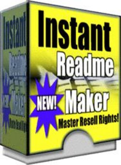 Product picture Instant Readme Maker With Master Resale Rights