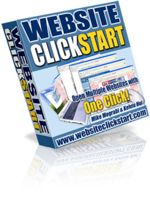 Product picture *NEW!* Website ClickStart Open Multiple Websites