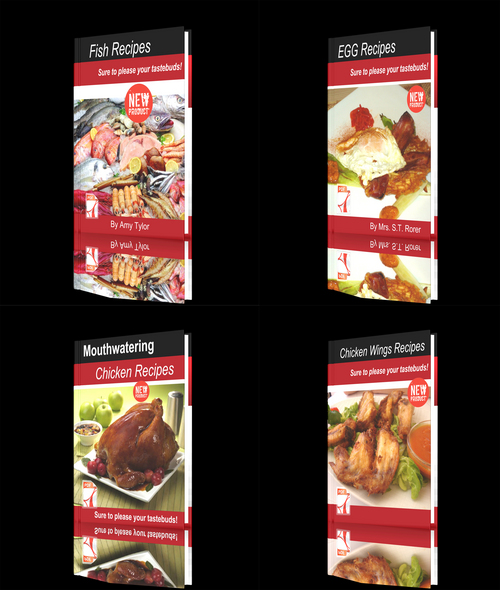 Product picture **NEW** Fresh Recipes Four Books -Fish - chicken - Chicken W