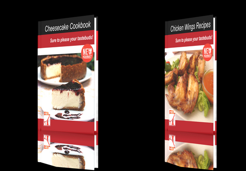 Product picture **NEW!**Two cookbooks-Chicken Wings Recipes+Cheesecake Cookb