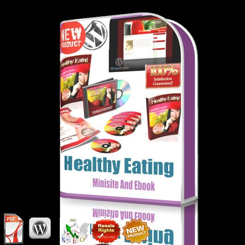 Product picture *NEW!*Healthy Eating MRR/Minisite/WordPress Template/ebook